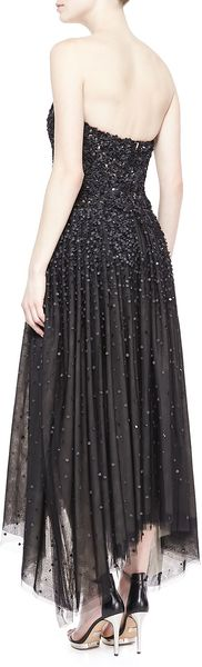 Donna Karan New York Strapless Shardembellished Gown Black - Lyst