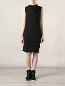 Rick Owens High Neck Fitted Dress - Lyst