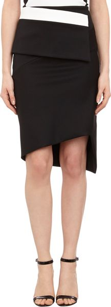 Narciso Rodriguez Colorblock Panel Pencil Skirt - Lyst