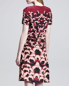 Thakoon Printed Pintuckback Dress - Lyst