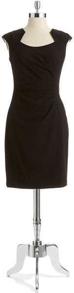 Calvin Klein Ruched Dress - Lyst