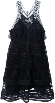 Chloé Broderie Anglaise Layered Dress - Lyst