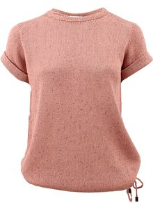 Brunello Cucinelli Paillette Top with Drawstring - Lyst