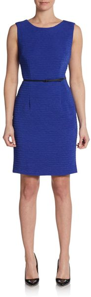Calvin Klein Sleeveless Stretch-crepe Sheath Dress - Lyst