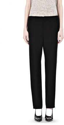 Alexander Wang Draped Suiting Front Trousers - Lyst