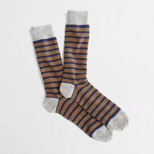 J.Crew Factory Triple Narrowstripe Socks - Lyst