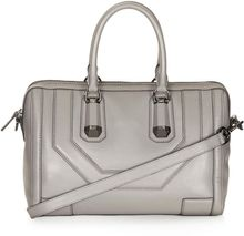 Topshop Icon Leather Holdall Bag - Lyst