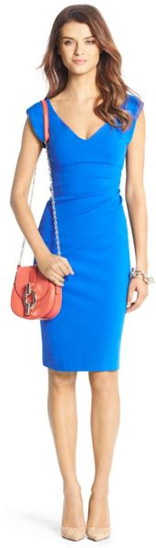 Diane Von Furstenberg Bevin Ceramic Ruched Sheath Dress - Lyst