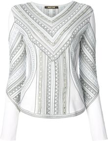 Roberto Cavalli Embroidered Design Blouse - Lyst