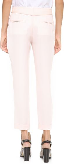Rag & Bone Mo Pants with Leather Waistband - Lyst