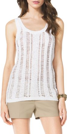 Michael by Michael Kors Tape Yarn Tank - Lyst