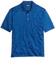 Brooks Brothers Country Club Textured Stripe Solid Lisle Polo - Lyst