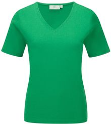 Cc Embroidered Cotton Vneck Basic Top - Lyst