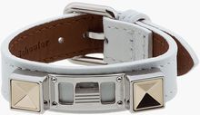 Proenza Schouler White Studded Leather Bracelet - Lyst