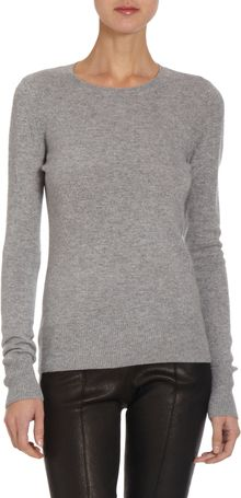 Barneys New York Basic Cashmere Sweater - Lyst