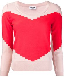 Sonia By Sonia Rykiel Big Heart Intarsia Sweater - Lyst