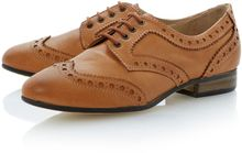 Dune Linford Leather Almond Toe Stacked Brogue Shoes - Lyst