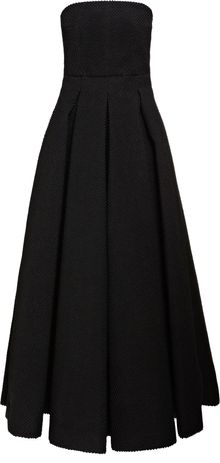 Emilia Wickstead U Strapless Dress with Tuille - Lyst