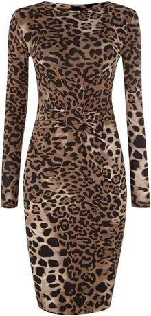 Therapy All Over Leopard Print Tube Dress - Lyst