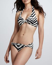 Camilla & Marc Zebra-print Twist Swim Bottom - Lyst