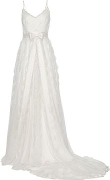 Marchesa Chantilly Lace and Satin Gown - Lyst