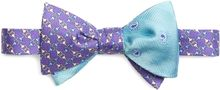 Brooks Brothers Purple Small Circle Link Print with Aqua Herringbone Tossed Pine Reversible Bow Tie - Lyst
