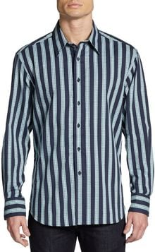 Robert Graham Raddle Mixed Striped Woven Shirt - Lyst