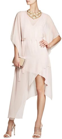 BCBGMAXAZRIA Suzy Draped Asymmetrical Silk Dress - Lyst