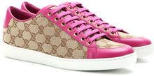Gucci Brooklyn Canvas and Leather Sneakers - Lyst