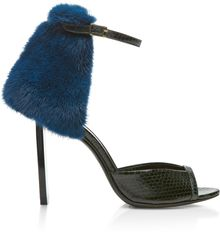 Pierre Hardy Water Snake and Blue Mink Sandal - Lyst