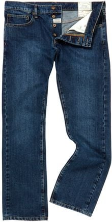 Linea Max Washed Blue Straight Fit Denim - Lyst