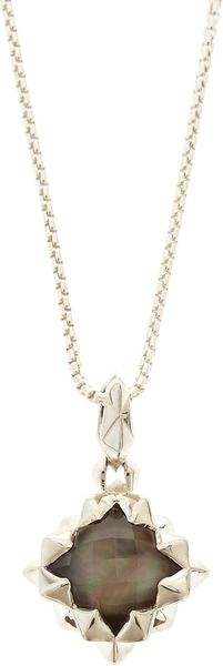 Stephen Webster Superstud Black Motherofpearl Pendant Necklace - Lyst