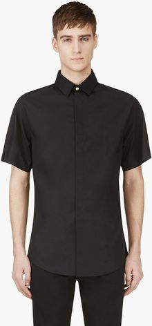 Versus  Black Safety Pin Shirt - Lyst
