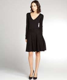 BCBGMAXAZRIA Black Silkcotton Blend Sweater Dress - Lyst
