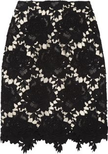 Lover Star Crocheted Floral Cottonlace Pencil Skirt - Lyst