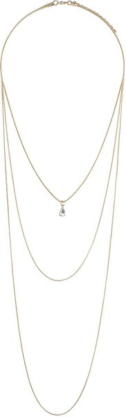 Topshop Triple Row Teardrop Stone Necklace - Lyst