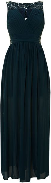 Tfnc Embellished Top Maxi Dress - Lyst
