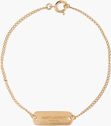 Saint Laurent Gold Baptism Bracelet - Lyst