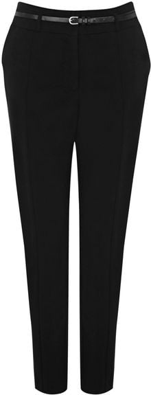 Oasis Cotton Belted Trouser - Lyst