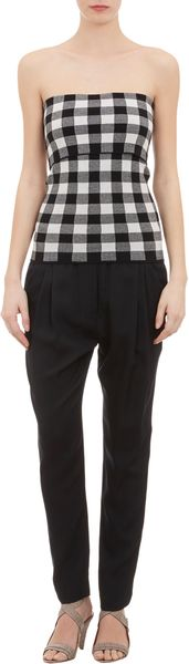 Derek Lam Knit Check Strapless Top - Lyst