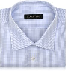 Forzieri Micro Checked Non Iron Cotton Dress Shirt - Lyst