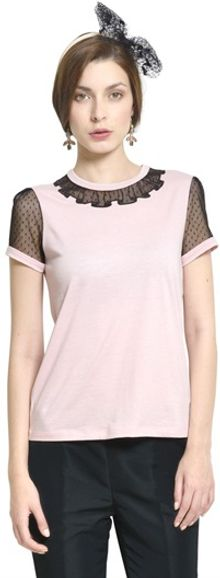 RED Valentino Tulle and Jersey T-shirt - Lyst