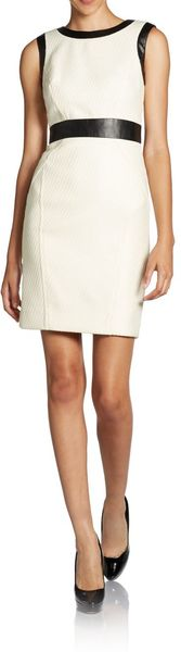Milly Contrast-trim Sheath Dress - Lyst