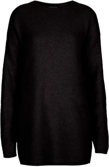 Topshop Knitted Fluffy Long Jumper - Lyst