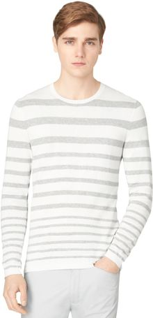 Calvin Klein Graduated Stripe Crewneck Sweater - Lyst