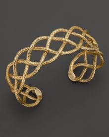 John Hardy Womens Classic Chain 18k Yellow Gold Braided Cuff - Lyst