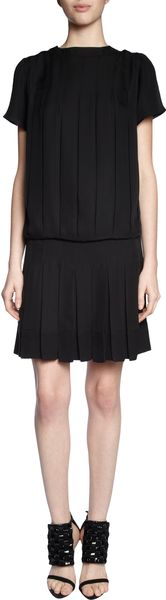 Proenza Schouler Short Sleeve Drop Waist Dress - Lyst
