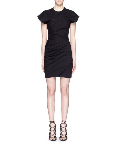 alexander wang ruched jersey bustier t