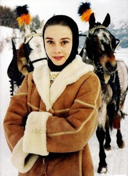 TBT: Audrey's Shearling Jacket