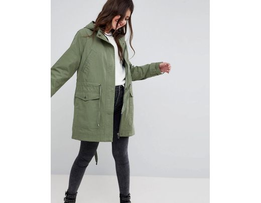 c3e47a1a9 ASOS Summer Parka With Jersey Lining in Green - Lyst
